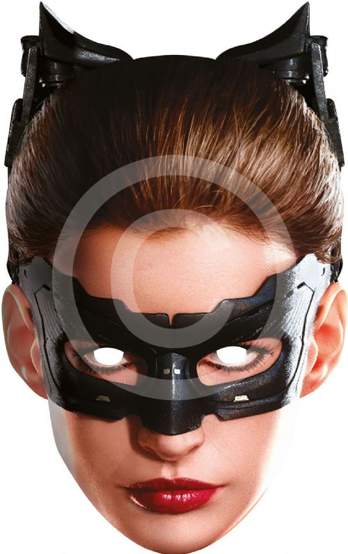 Catwoman Card Face Mask Superhero Villian Super Hero Party Decoration
